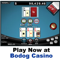 Let it Ride Poker at Bodog Casino